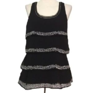 WHITE HOUSE BLACK MARKET Tiered  Embroidered  Top